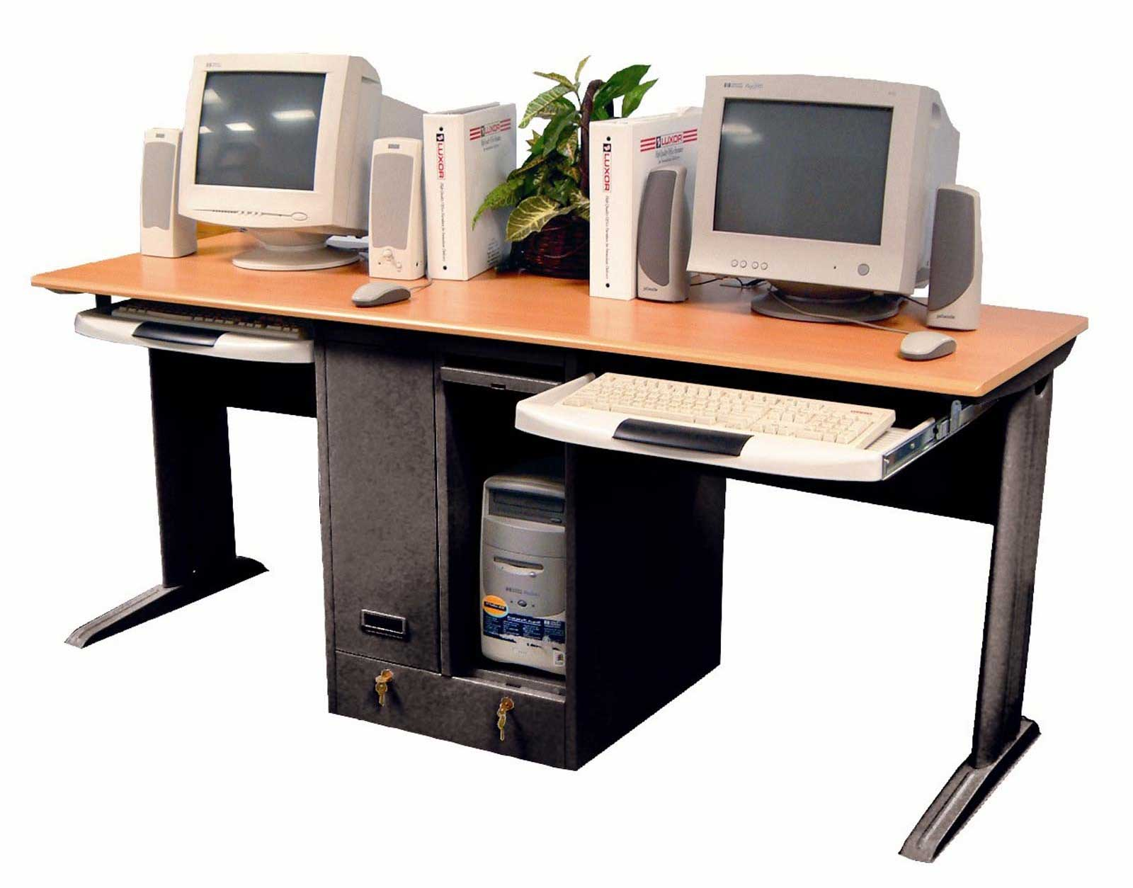 Milner Dual Computer Desk from Luxor