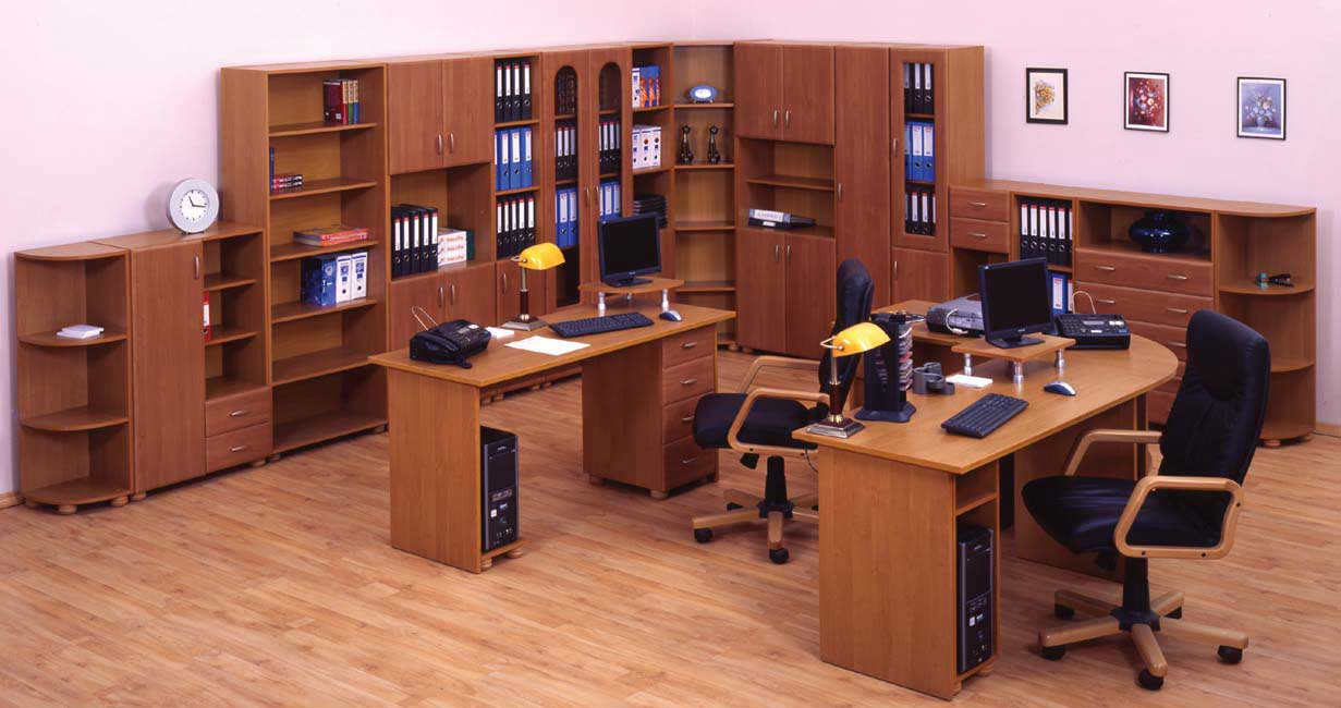 26 amazing home office furniture layout for Office furniture designs photos