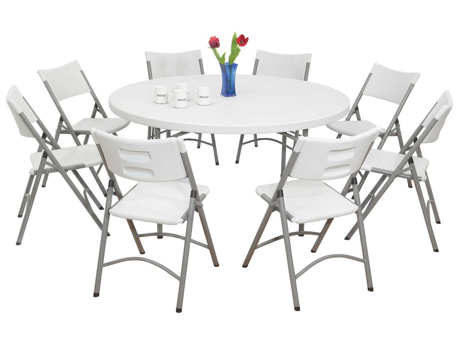 NPS Blow Molded White Chair Sets and Round Table