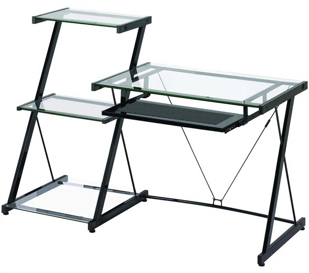 Nero Z-Line Computer Desks Designs with Bookcase