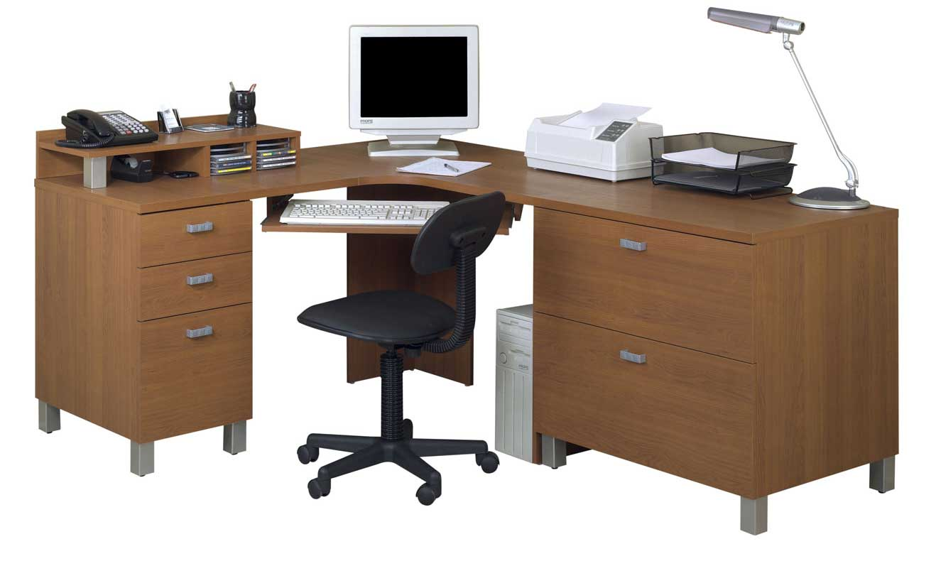 Nexera Ambiance Wooden L-Shape Office Computer Desk