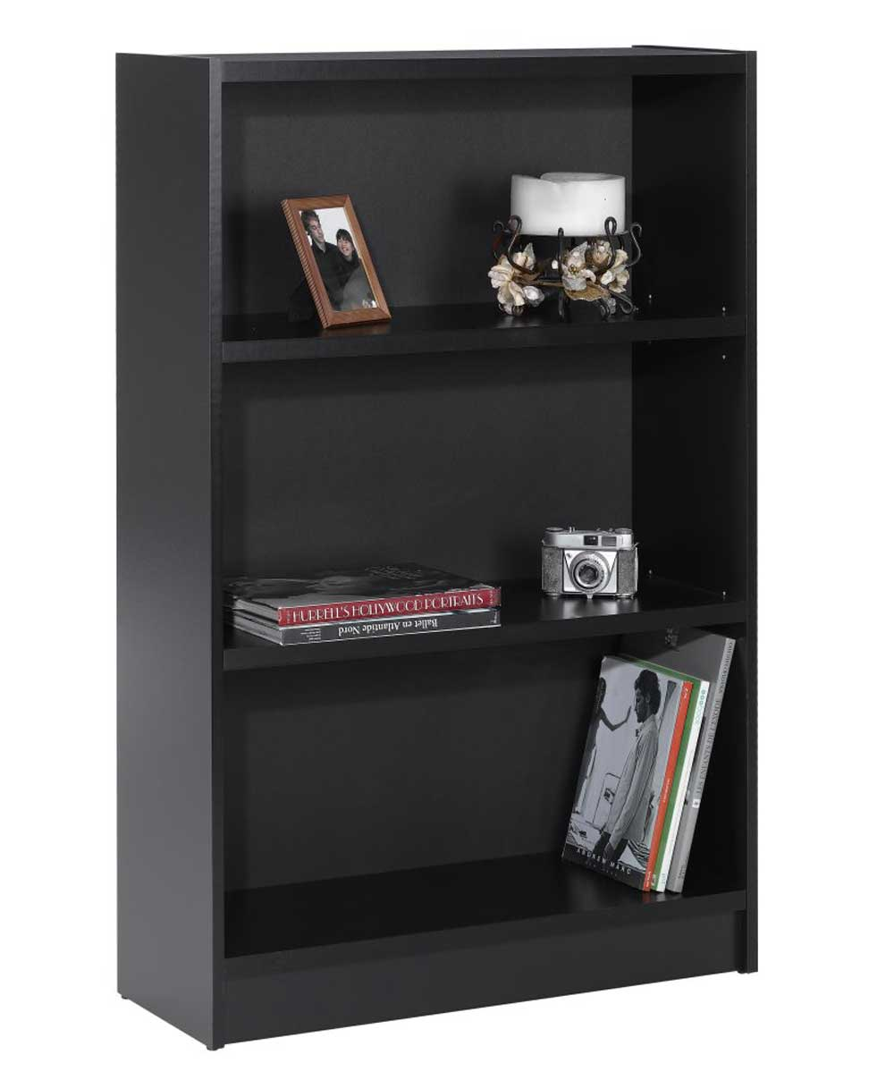 Nexera Black Tall Durable Metal Bookcase