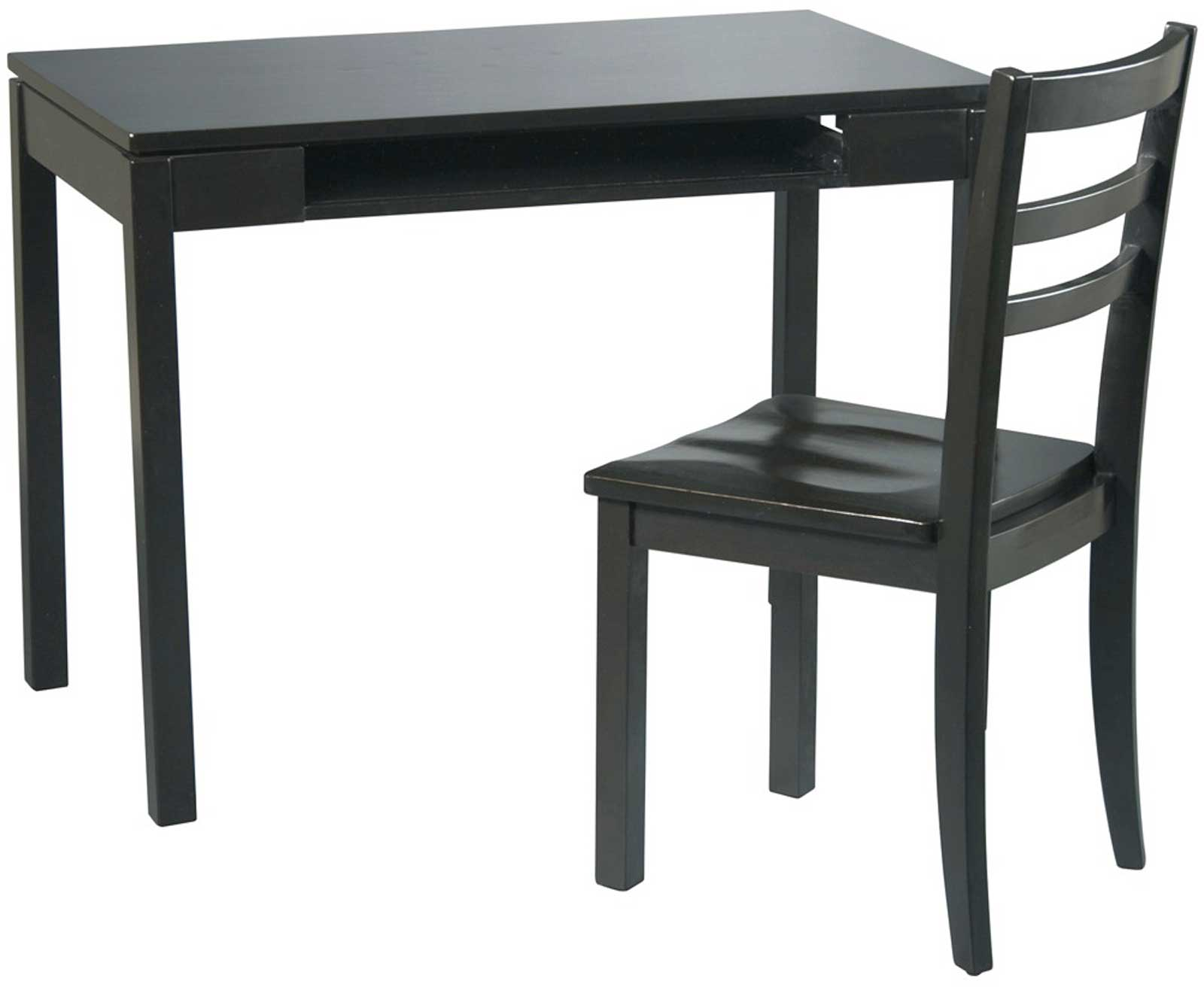 Office Star Black Stone Chair and Desk Sets