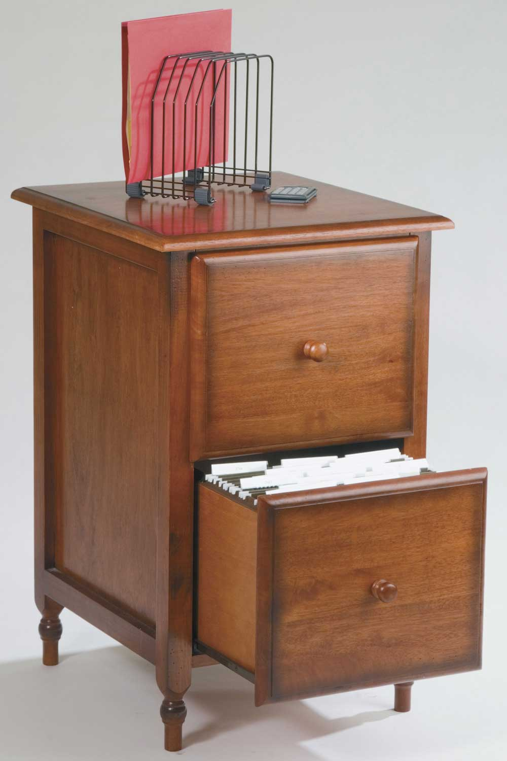 Office Star Cherry Antique File Cabinet