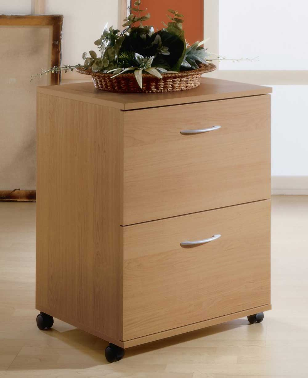Pine 2 Drawers Mobile and Vertical File Cabinets