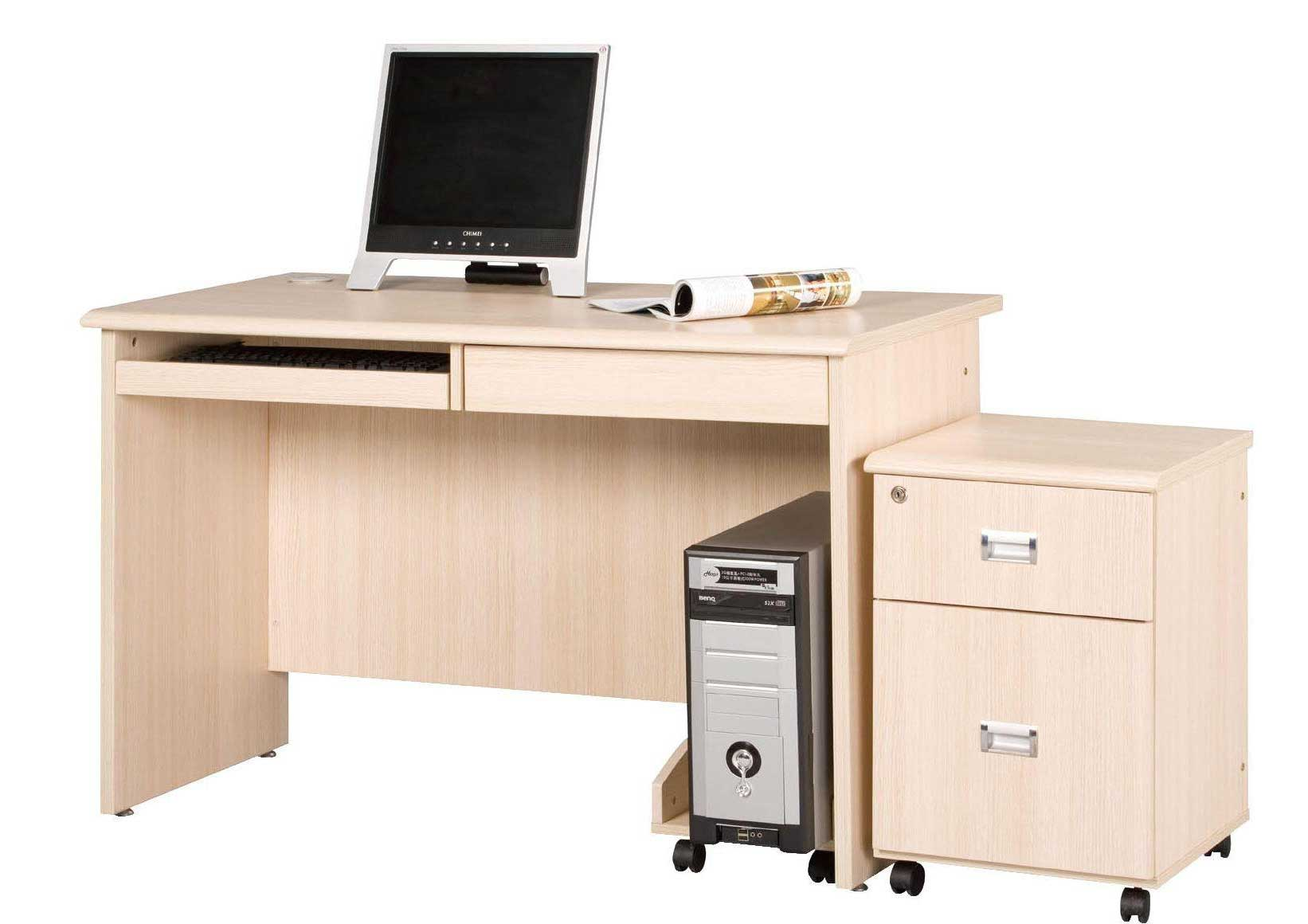 Portable Computer Desk with Storage Cabinet