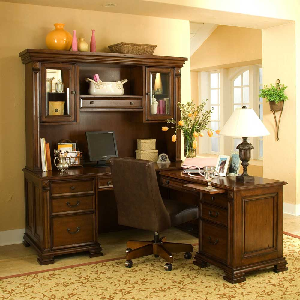 Riverside Serenato Cherry L-shaped Computer Desk