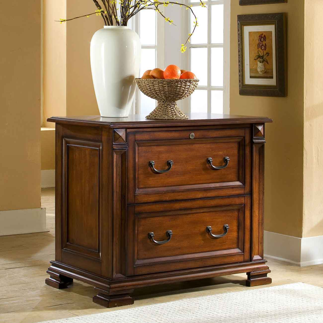 Riverside Serenato Cherry Lateral Filing Cabinet