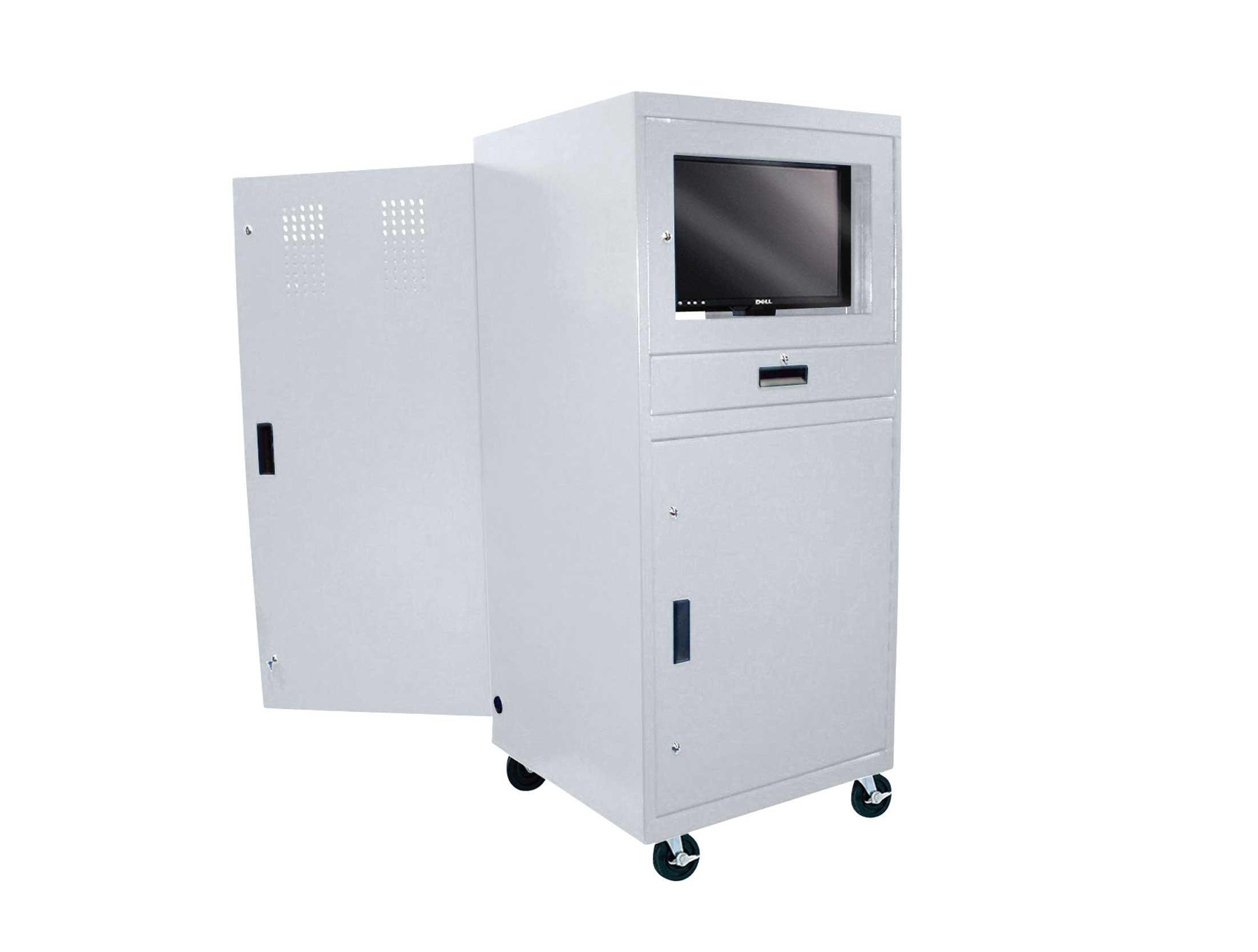 Sandusky Lee White Mobile Computer Cabinet