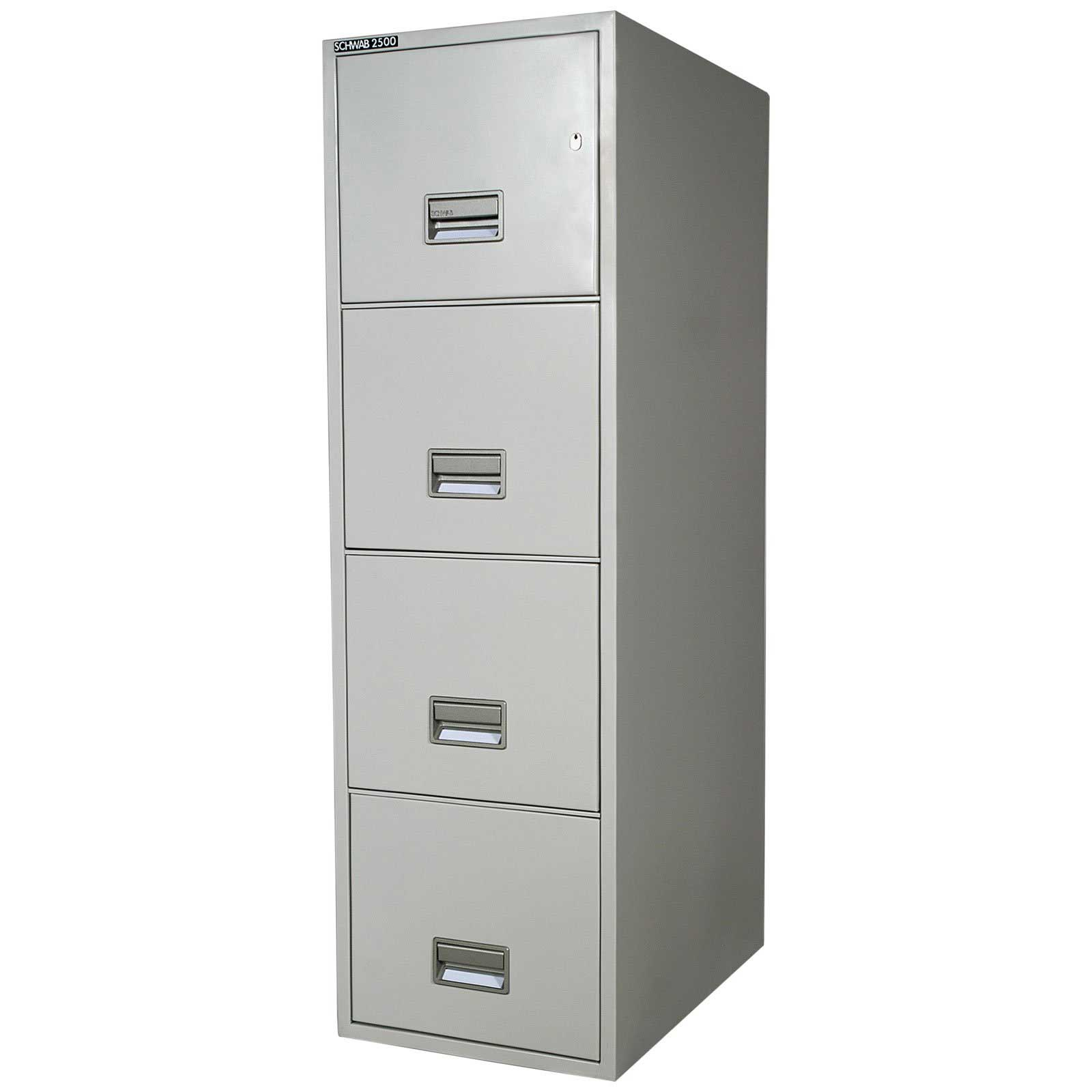 Schwab 2500 fireproof 4 drawers metal file cabinets