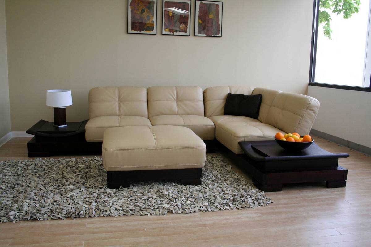 leather sectional sofas for elegant home office. Black Bedroom Furniture Sets. Home Design Ideas