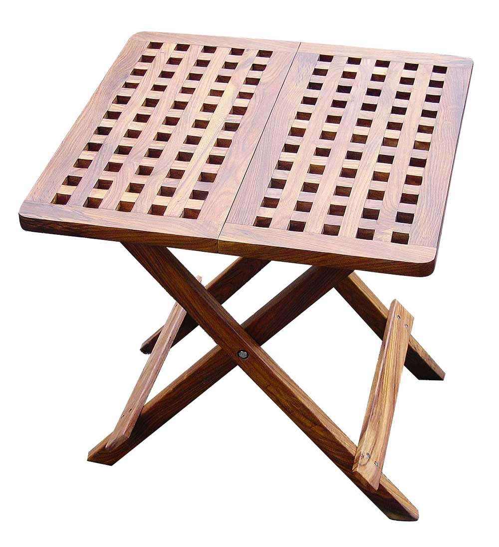 Sheesham portable wood computer folding table