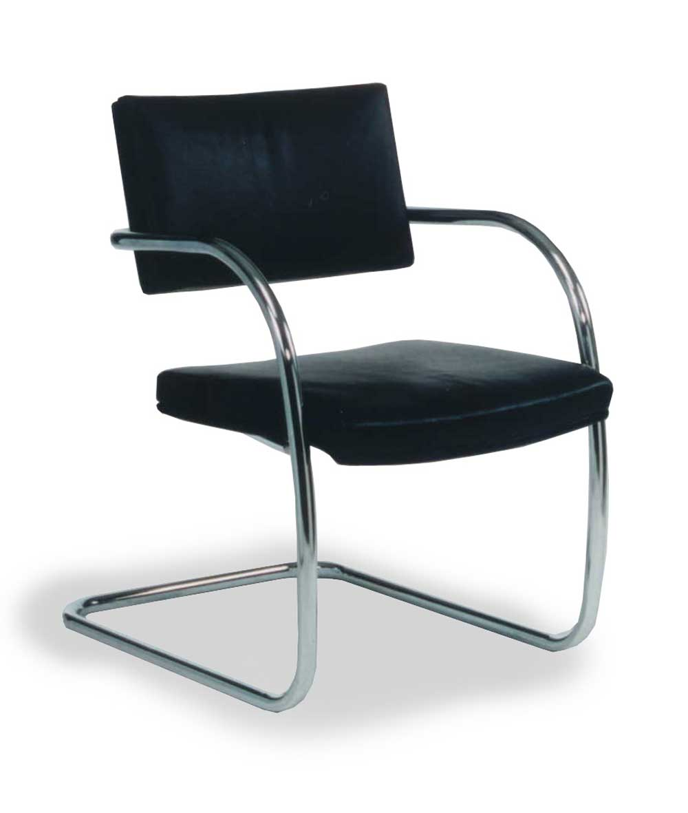 Simple and Sleek Metal Leather Waiting Chairs