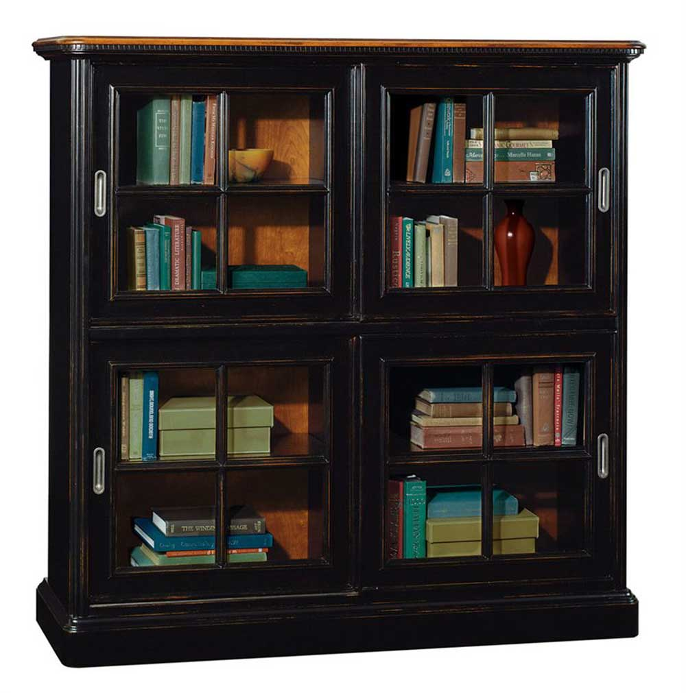 Sligh Furniture Solid Wood and Metal Barrister Bookcase