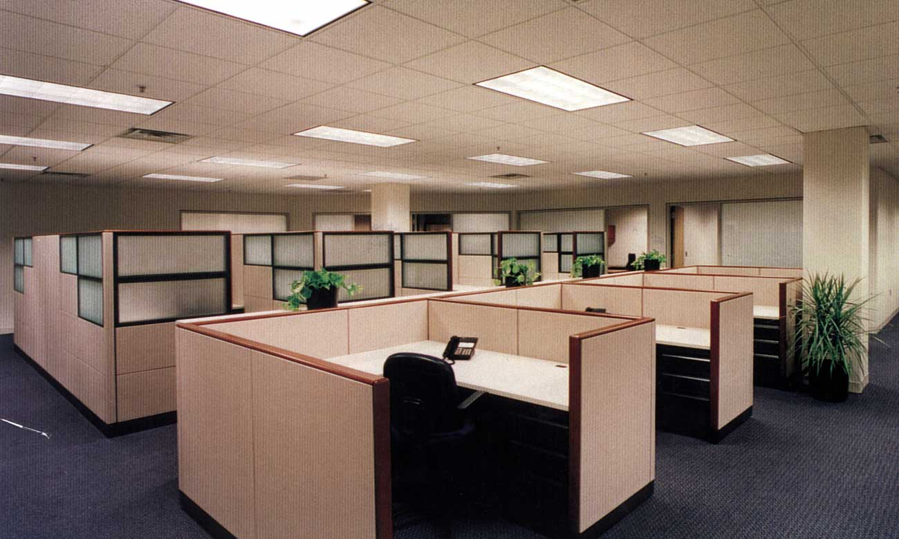 Smart and Clean Executive Modern Office Cubicle