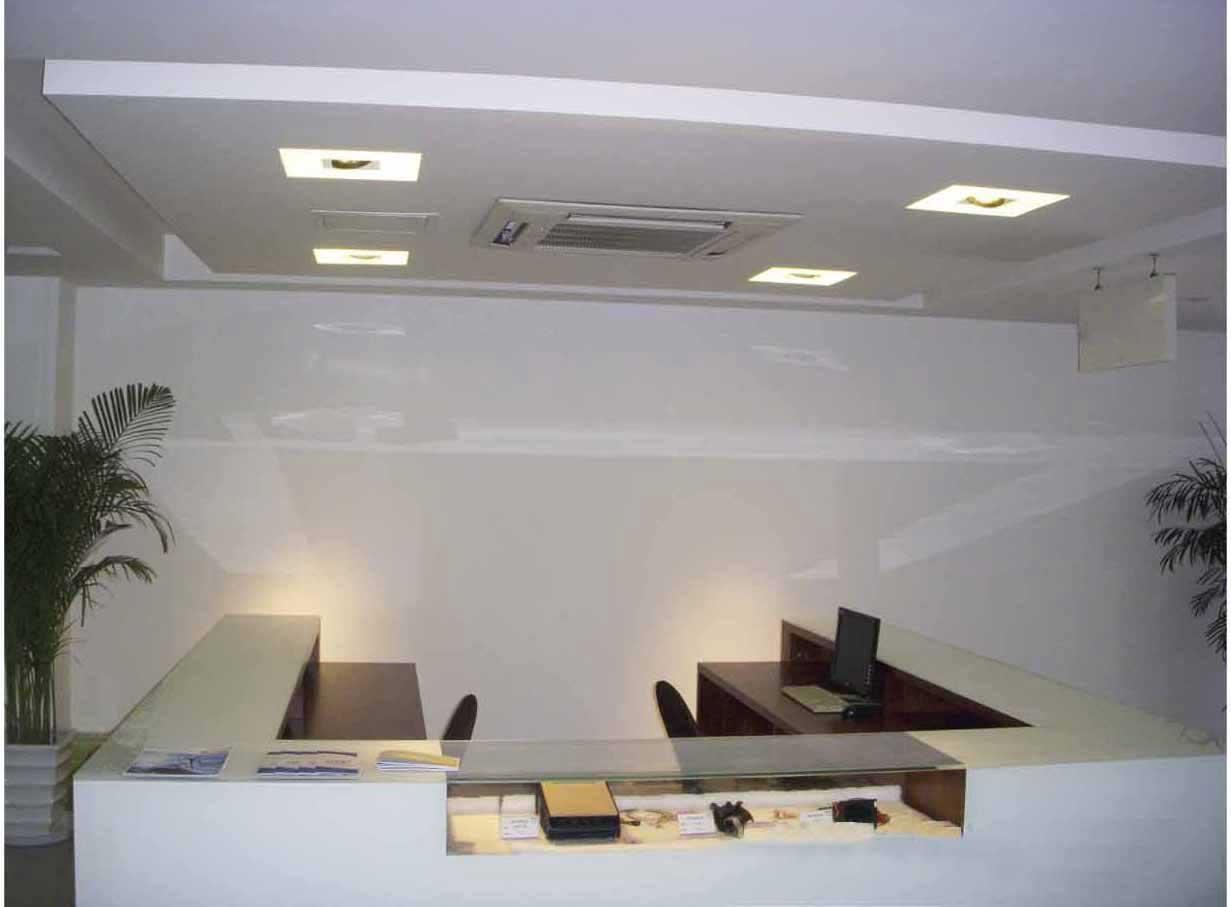 Soft Lightning Design for Office Counter Desk