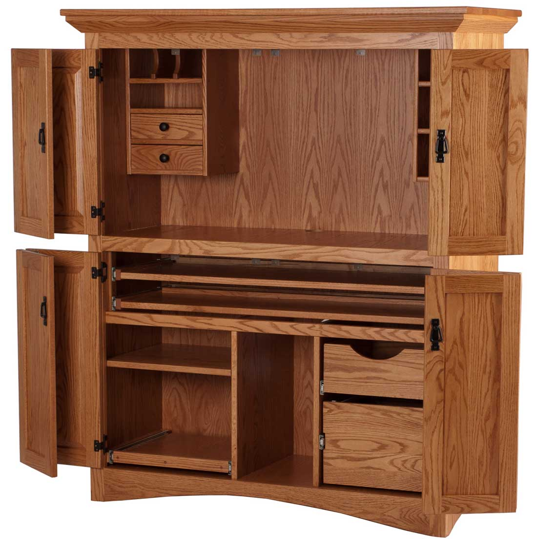 Solid wood computer hutch office furniture