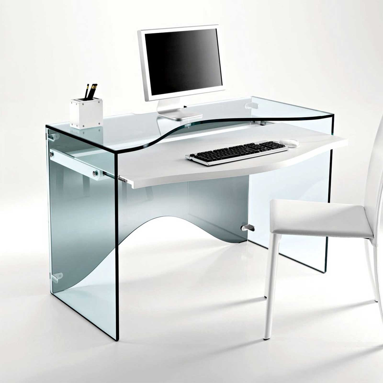 glass office desk glass office desks executive glass desks solutions 4 modern glass. Black Bedroom Furniture Sets. Home Design Ideas