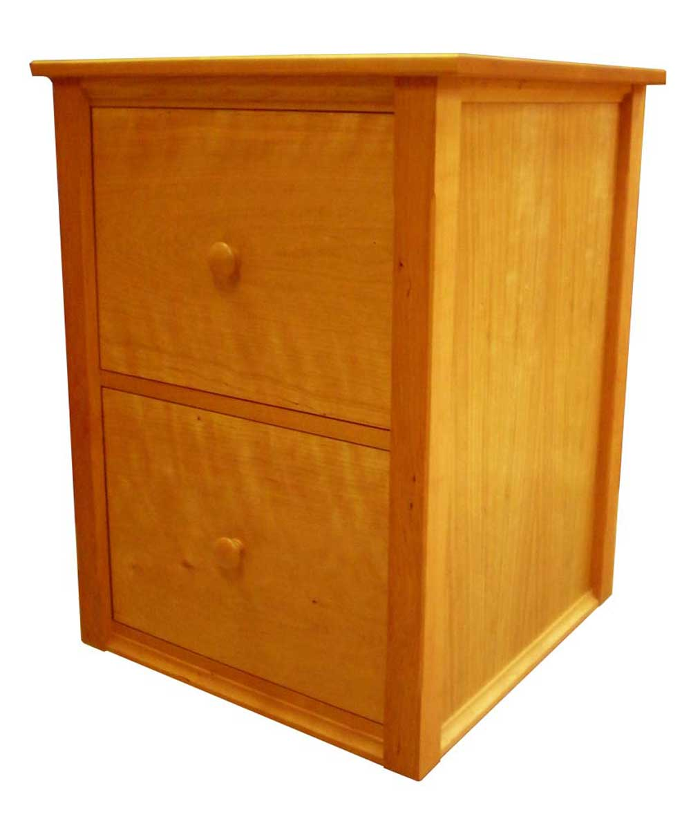 Vermont Shaker Wooden Vertical Document Cabinet