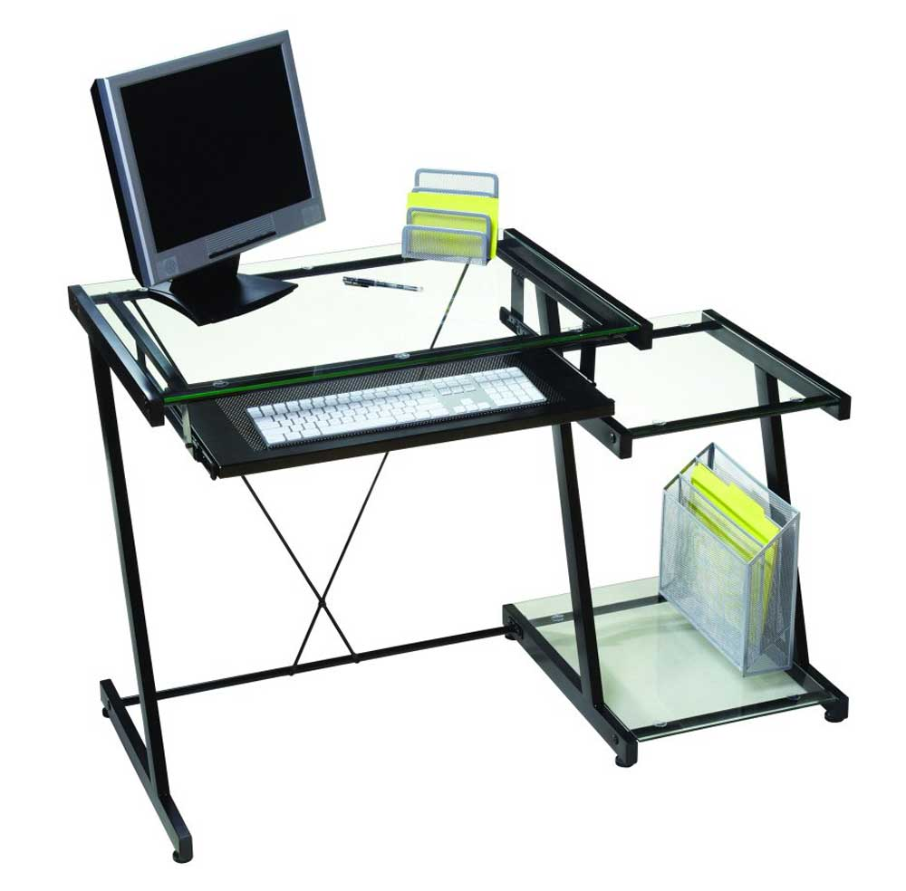 Vina Z Line Black Contemporary Computer Desks