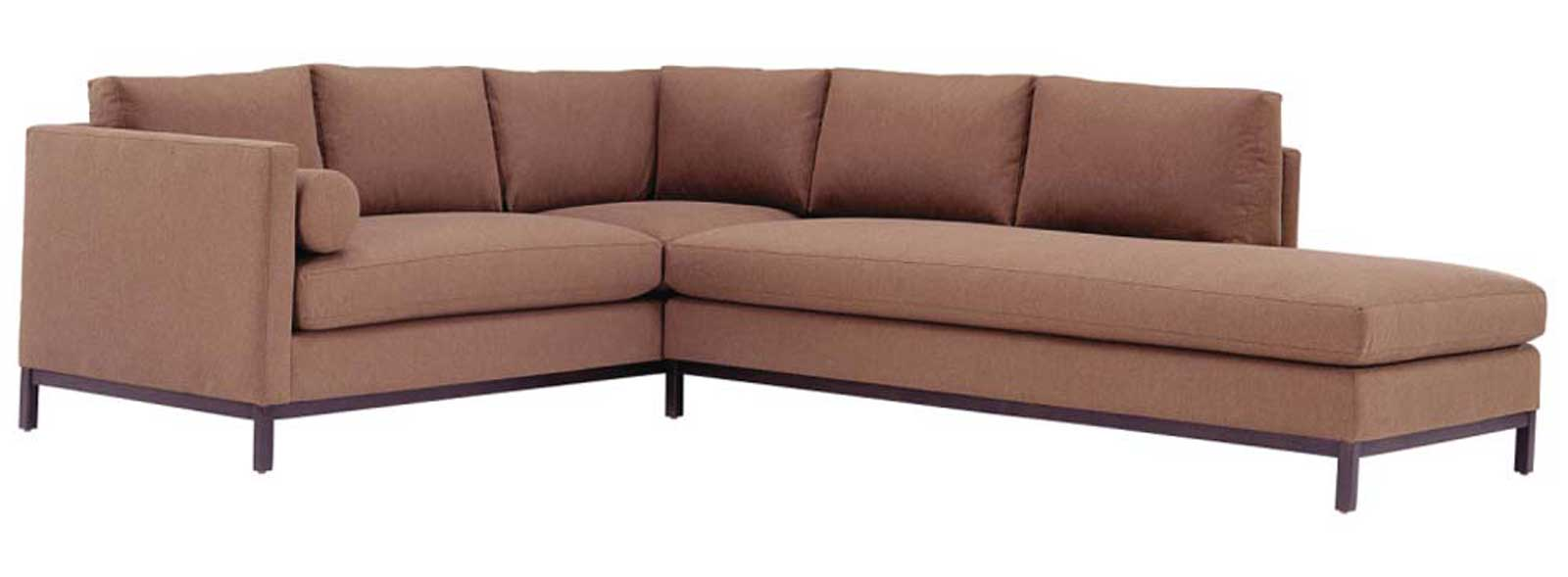 Wood Frame Designer Classic Sectional Sofa