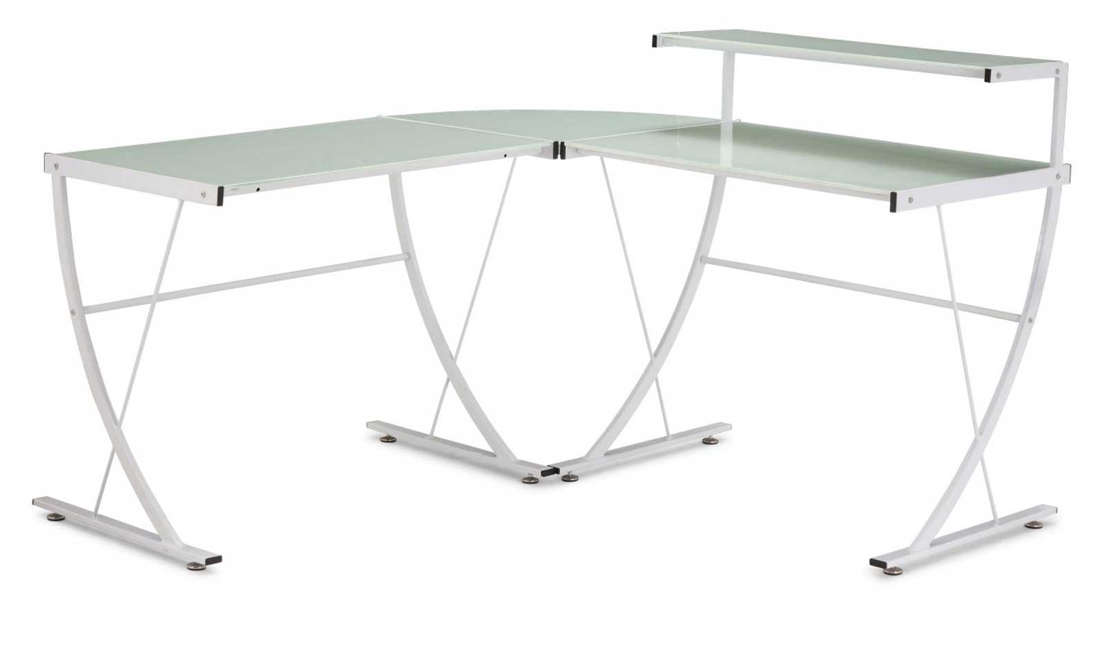 Zuo Modern 277003 Fighter Glass White Office Desk