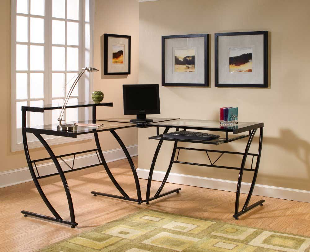 Glass Computer Desk Office Furniture