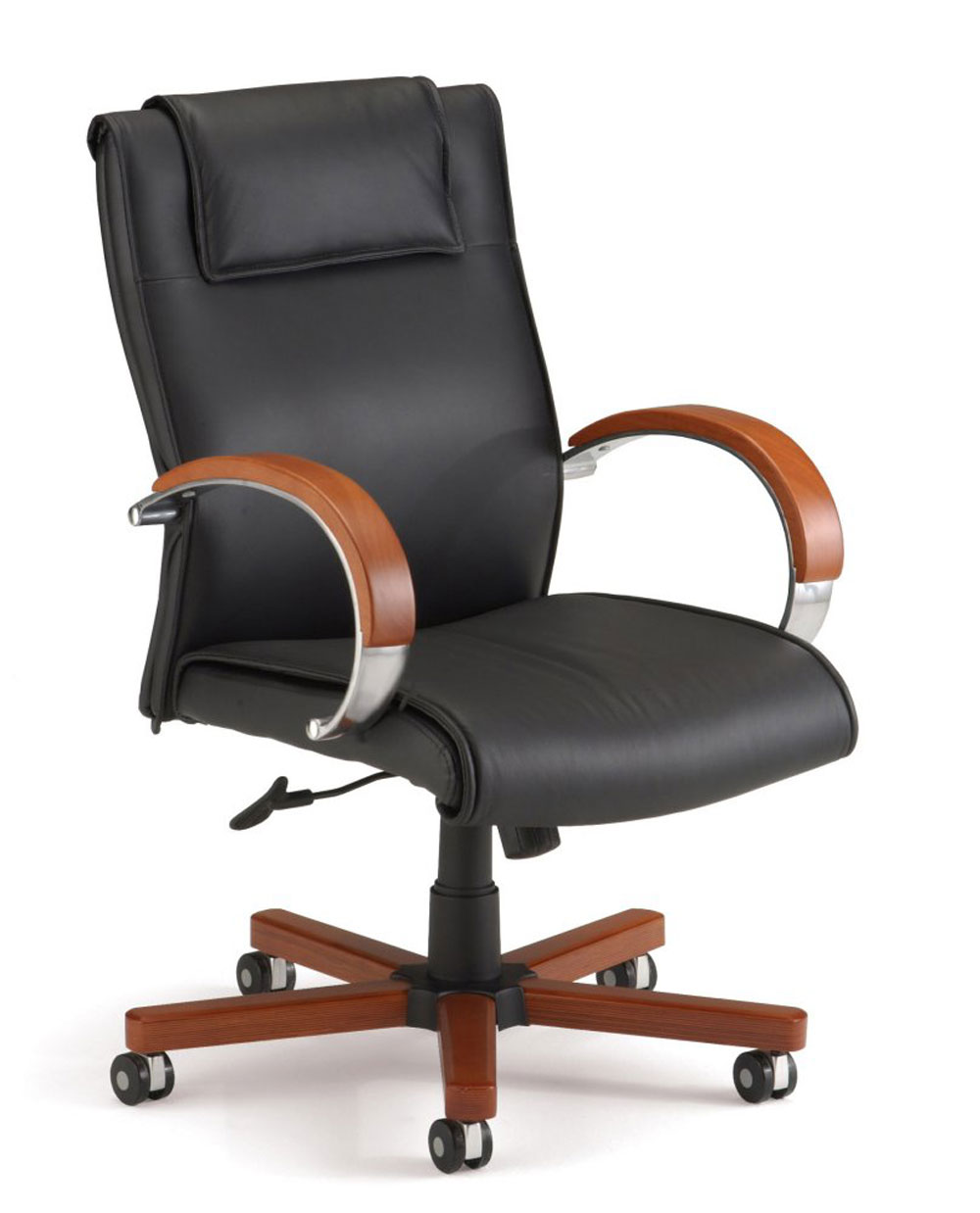 black executive office chairs with armrest