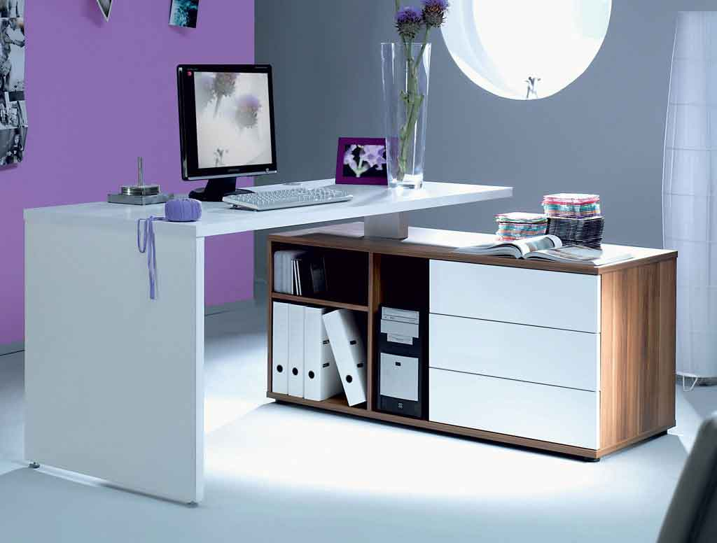contemporary computer desk and cabinet drawers
