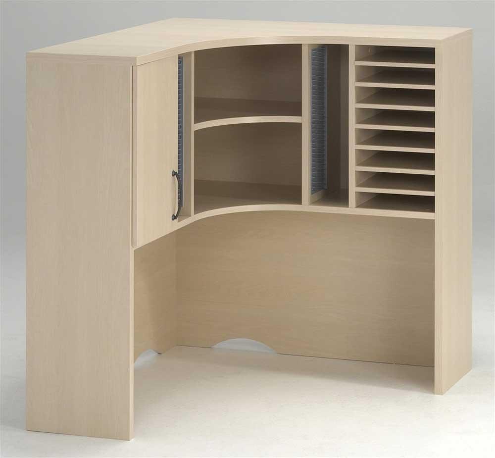 curved corner hutch desk oak