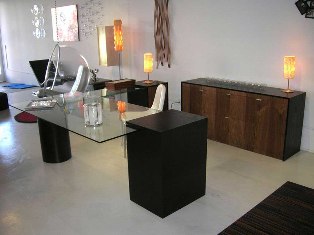 custom clean modern home office furniture