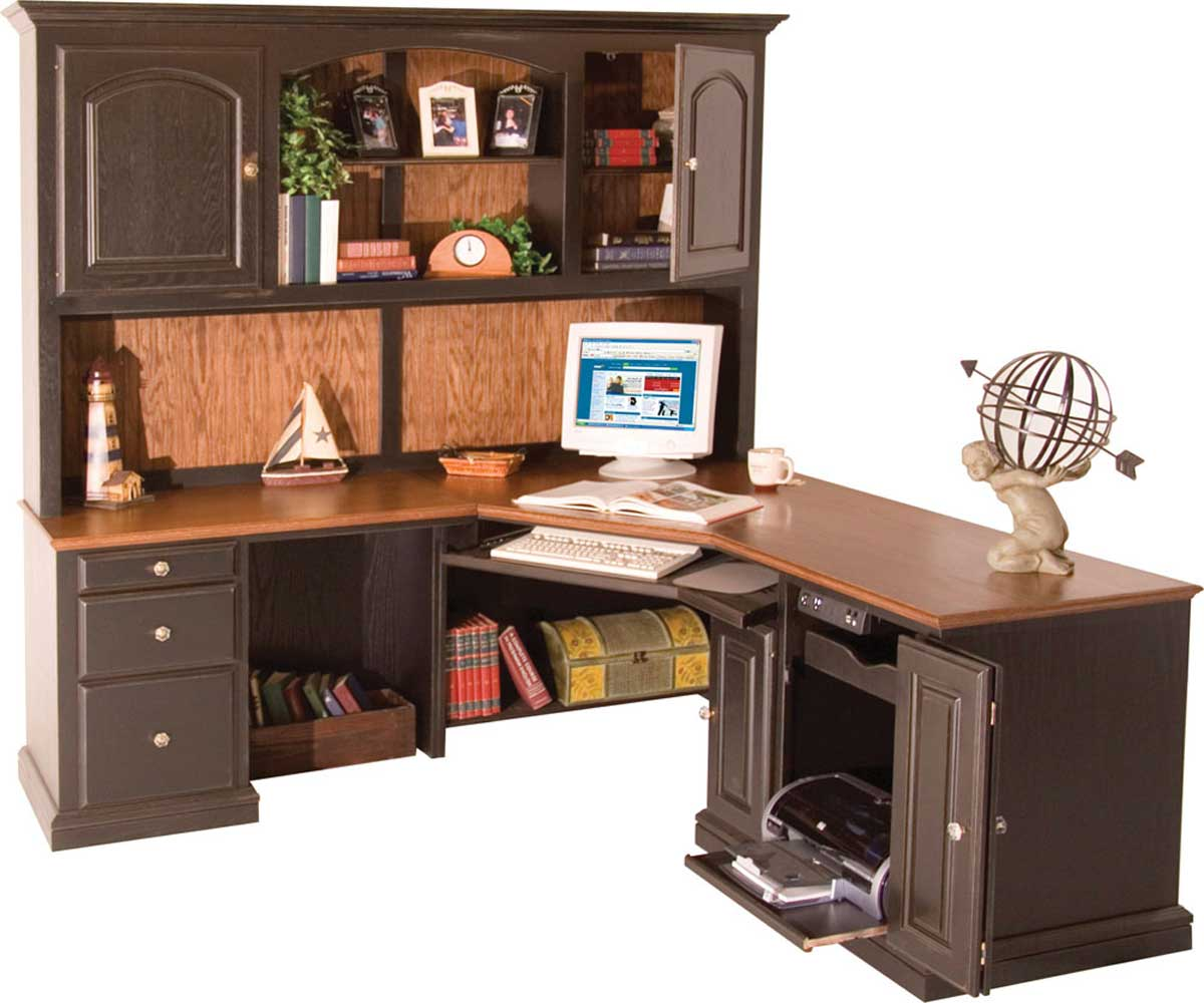 Oak corner desk with hutch images - Corner office desk ...