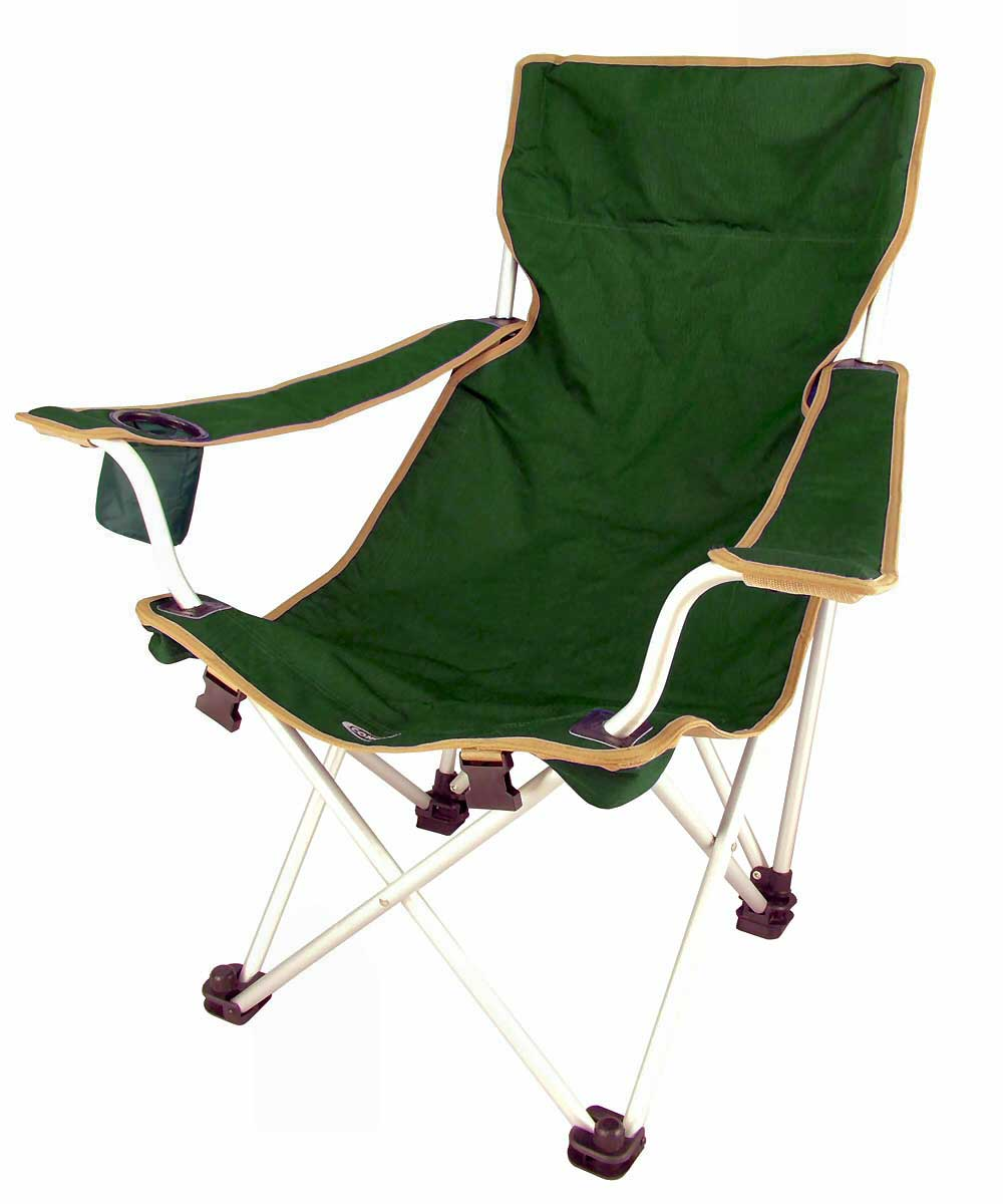 durable green canvas folding chair