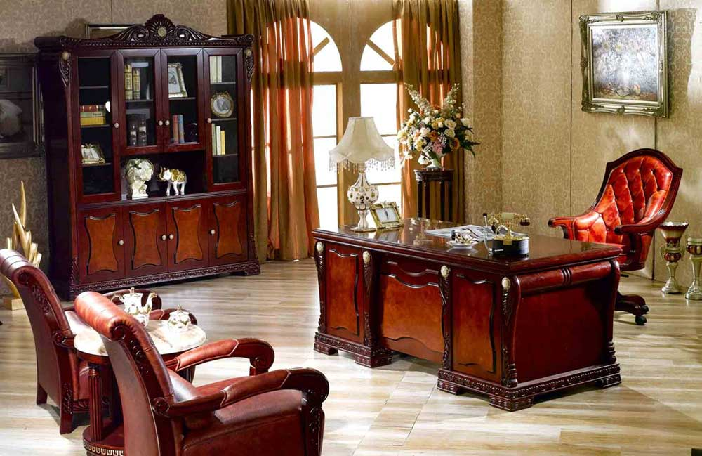 Custom home office furniture design - Elegant office home design ...