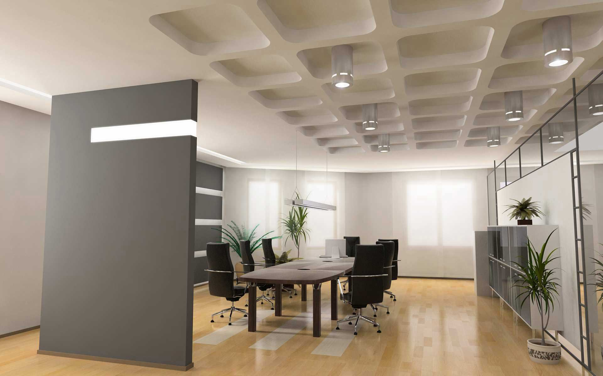 Office interior design ideas for home for Office design ideas for business office