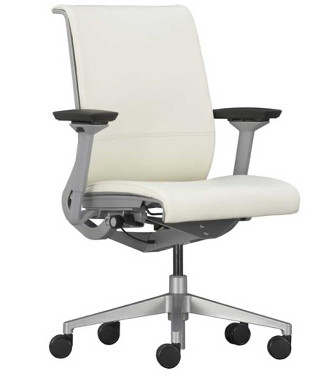 modern genuine white leather office seating designs