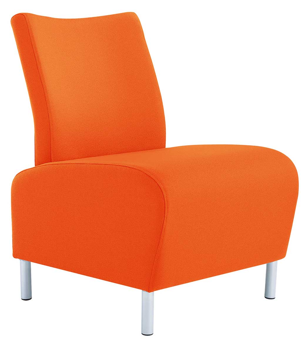 modern orange reception office chairs