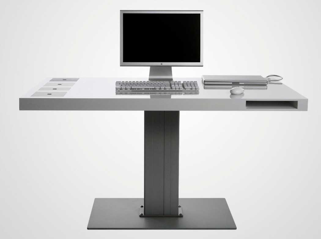 modern computer desks for small spaces. Black Bedroom Furniture Sets. Home Design Ideas