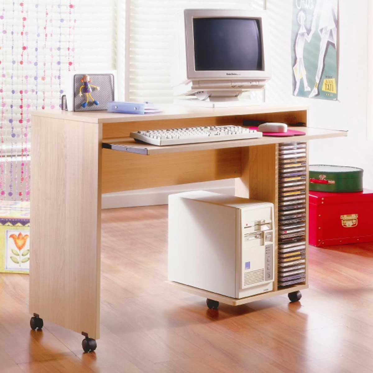 Mobile computer desk for home office solution - Mobile office desk ...