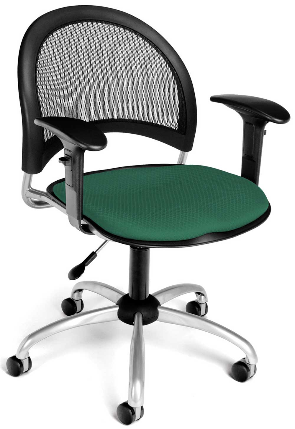 swivel metal computer chair with curve cushions