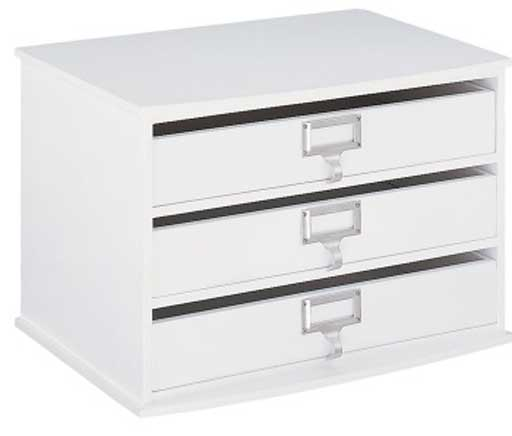 three drawers office paper organizer