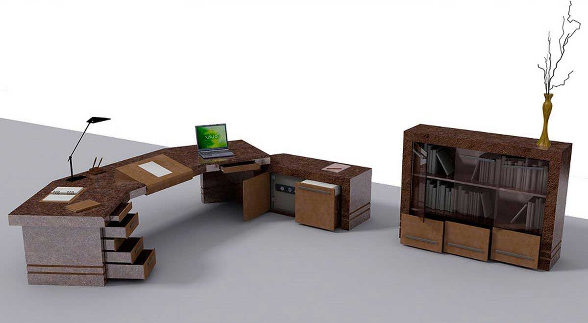 unique personal home office furniture concept