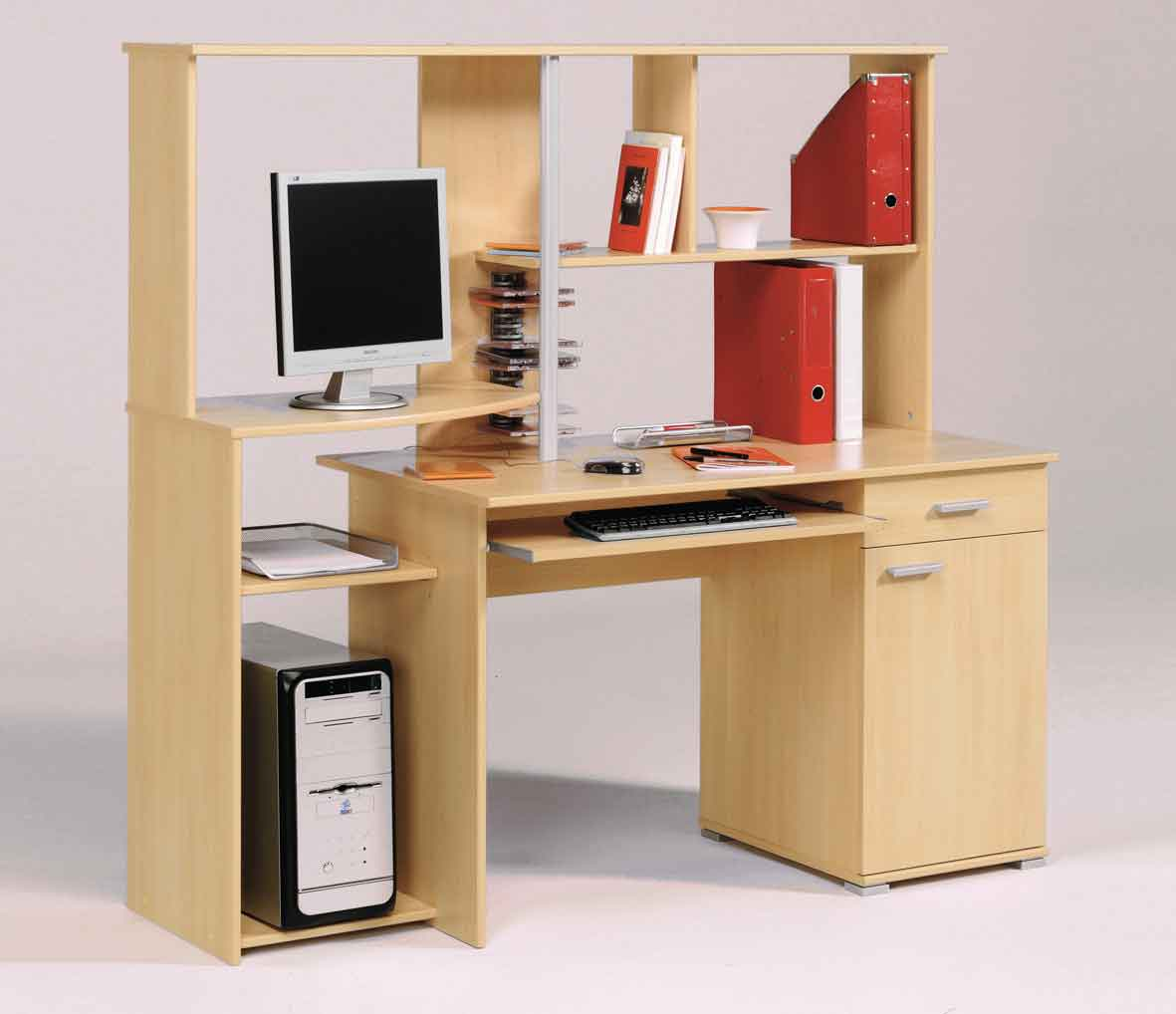 wooden computer office furniture with hutch