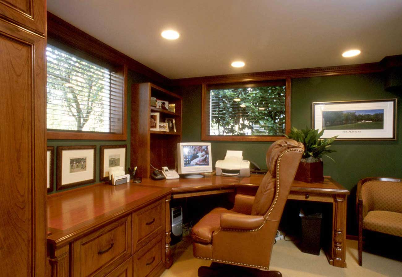 custom home office furniture design. Black Bedroom Furniture Sets. Home Design Ideas
