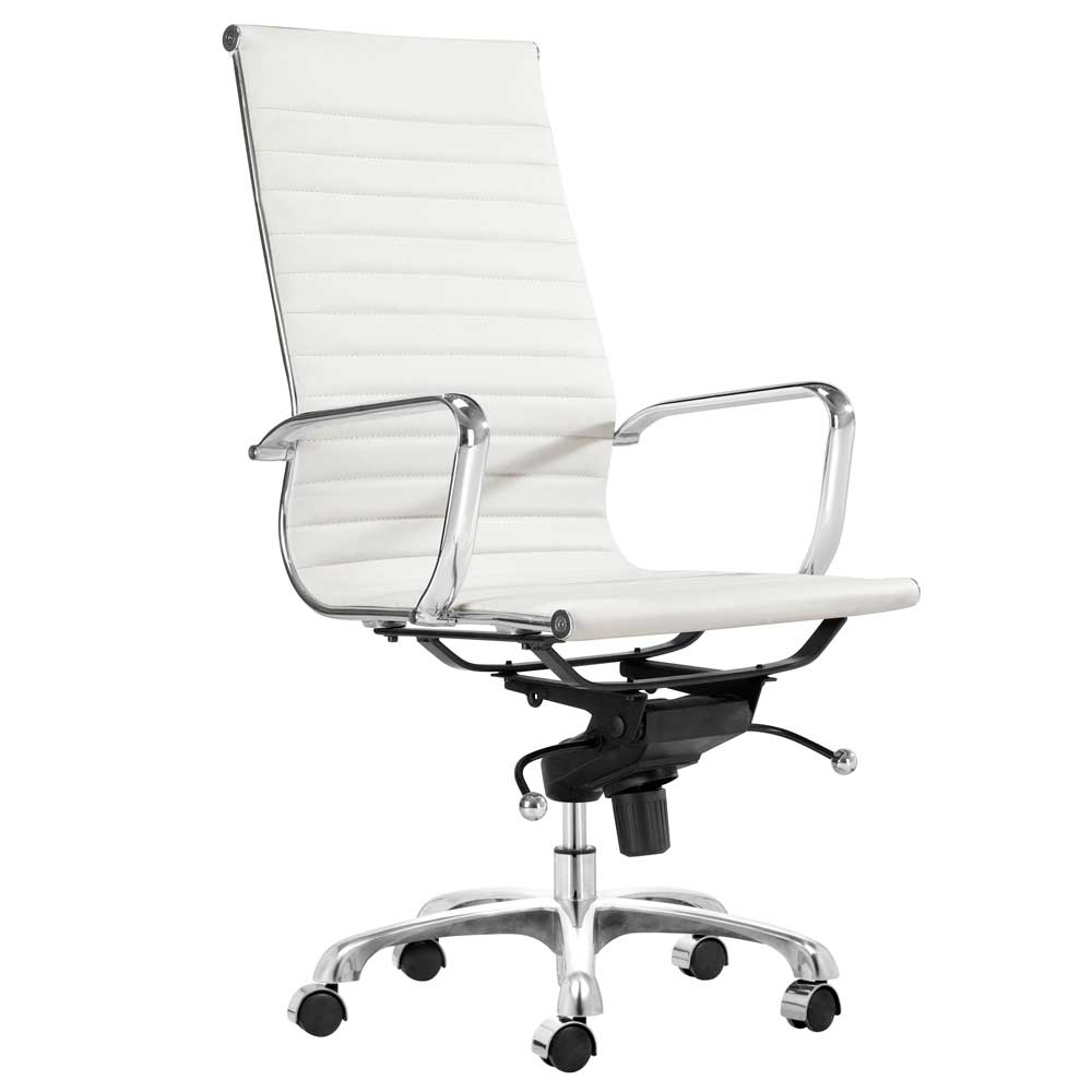 White desk chair office furniture for Modern white office chair