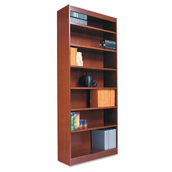 Alera Square Corner Wood Veneer Bookcase