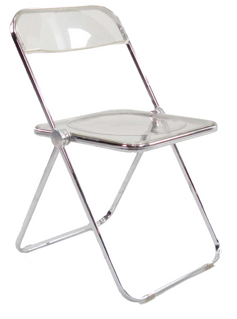 Anonima Castelli Contemporary Lucite folding chairs