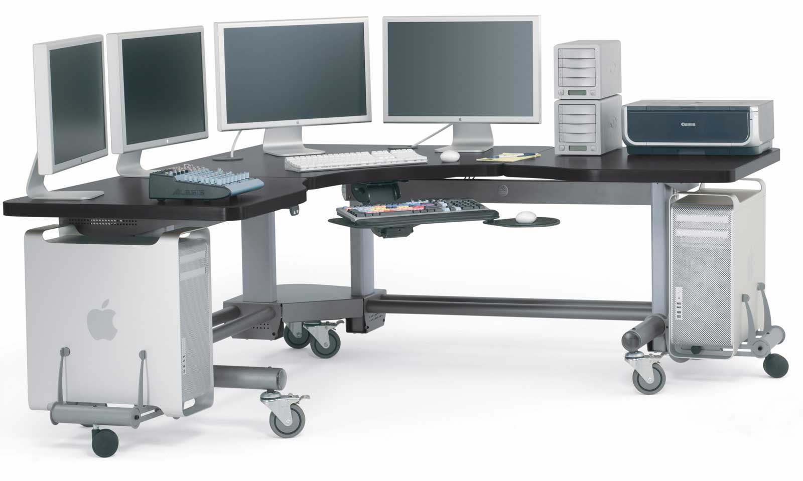 Adjustable Computer Workstation for Spacious Look | Office Furniture