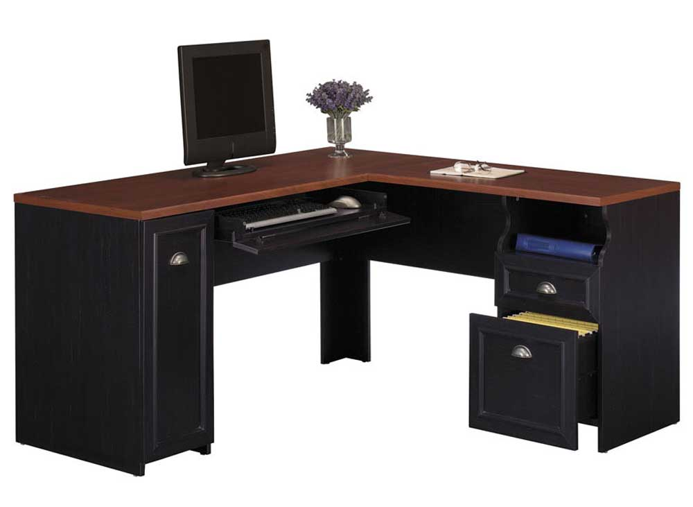 Cabot corner computer desk office furniture - Corner office desk ...