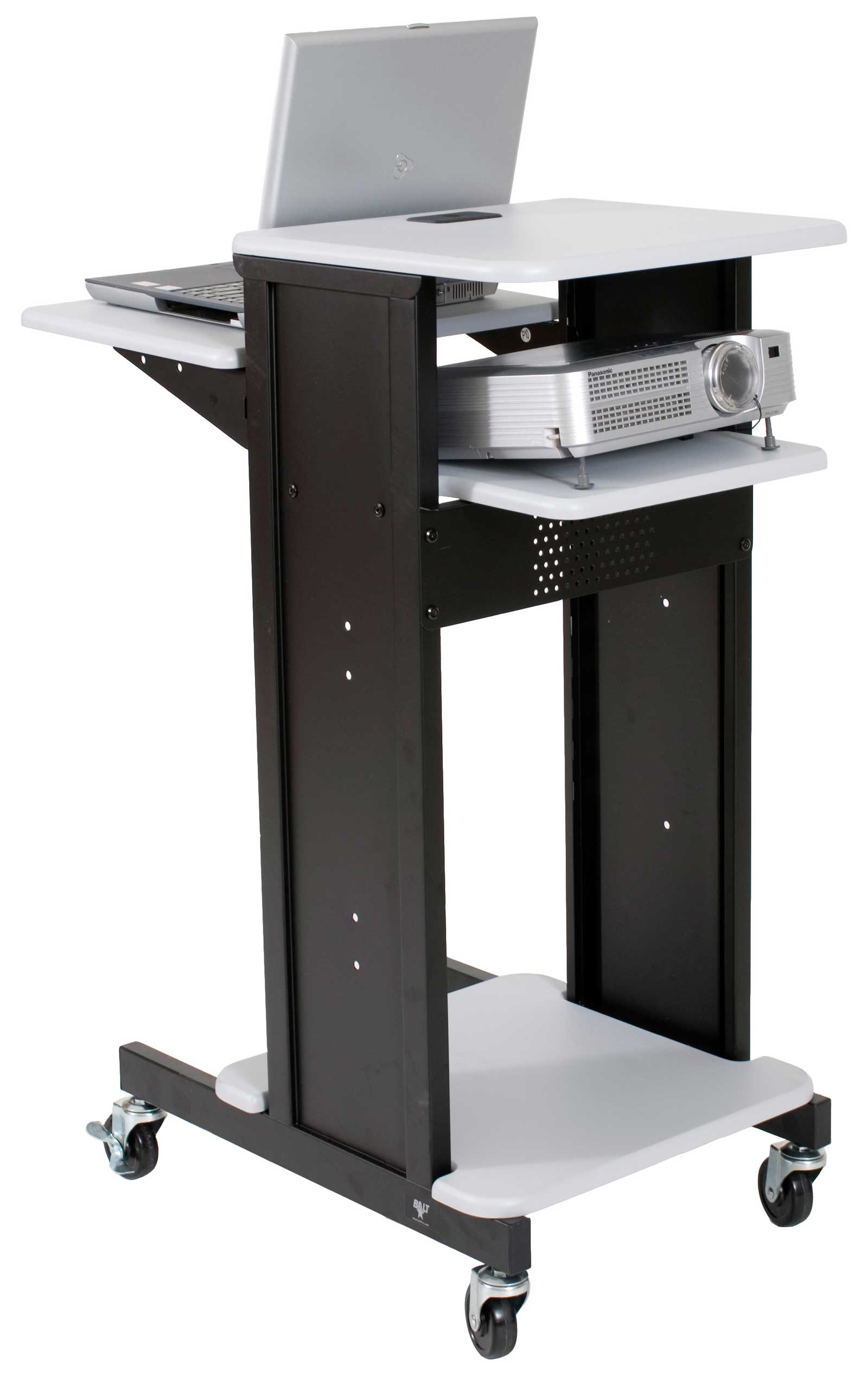 Balt laptop presentation cart in black